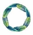 watercolor heliconia wreath vector image