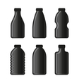 Water Bottle Icon Set on White Background vector image