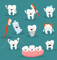 Cute Tooth Character Set vector image vector image