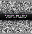television noise black perspective background vector image