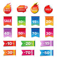 Big Sale Colorful Labels Set vector image vector image