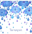 background with rain drops for the text vector image