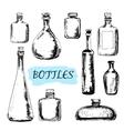 Bottles Set of vector image
