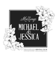 Hibiscus flower frame vector image