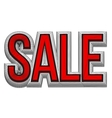 3d text SALE Sale poster isolated white vector image