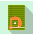 Baseball field flat icon vector image