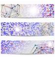 Set of templates technology scientific banners vector image