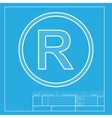 Registered Trademark sign White section of icon vector image