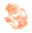abstract cream watercolor on white background vector image