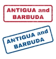 Antigua and Barbuda Rubber Stamps vector image