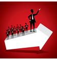 Businessman success concept vector image