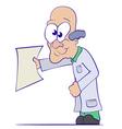 Cartoon Doctor or Scientist vector image