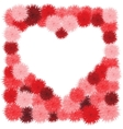 Floral Heart Beautiful vector image