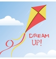 kite in summer sky vector image