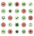 set of simple game icons vector image