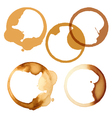 Stains of coffee vector image