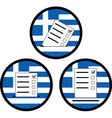 signs of voting in greece vector image
