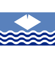 Flag of the Isle of Wight vector image