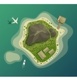 Island or isle with beach and mountain top view vector image