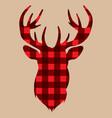 silhouette of deer on lambrajack background vector image vector image