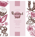 flavoured products - hand drawn banner vector image