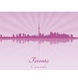 Toronto skyline in purple radiant orchid vector image