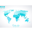 World watercolour map isolated on light background vector image