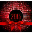 2015 background with red disco lights and ribbon vector image
