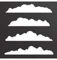 Collection of Various clouds with a big long shape vector image