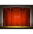 Empty stage with red curtains vector image vector image