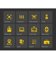 Delivery quadcopter drone icons vector image