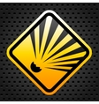 Explosion warning sign vector image