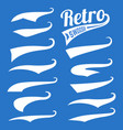 retro swoosh template set on blue vector image
