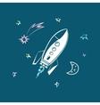 Rocket Forward to Success vector image