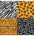 Seamless texture of animal skin vector image