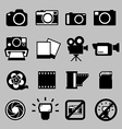 Set of camera and Video icons eps 10 vector image