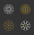 Set of Floral Monogram Design Templates vector image
