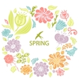 spring background from flowers vector image