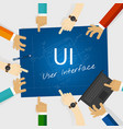 ui user interface web design concept vector image