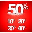 Winter Discounts Concept vector image