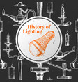 history of lighting vector image