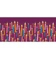 colorful birthday candles horizontal seamless vector image