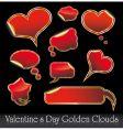 Valentine's stickers vector image