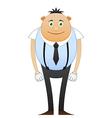Modest office worker in suspenders vector image vector image