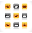 crown buttons vector image vector image