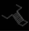 Drawing of a Reinforced Cement Concrete stair vector image