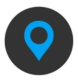 Map Marker flat blue and gray colors round button vector image