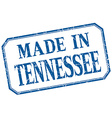 Tennessee - made in blue vintage isolated label vector image