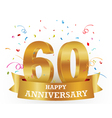 Anniversary Celebration with confetti vector image