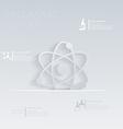 atom molecule template graphic or web vector image